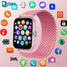 P8 Plus Smart Watch Women Men Braided Nylon Fabric Strap Smartwatch Fitness Tracker Sports Waterproof Watch for Android IOS Hour