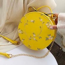Women bag Women's Fashion Lace Fresh Flower Handbag Crossbody Bag Solid Color Small Round Bag Messenger Shoulder 2020 New
