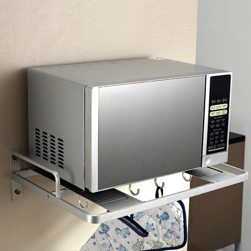 Aluminum Microwave Oven Bracket Wall Mounted Kitchen Rack storage rack itchen Shelf Microwave Oven Rack Storage Wall F