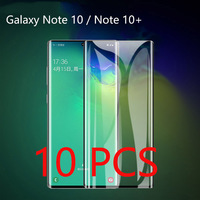 10 pcs per Lot Curved 9H Tempered Glass For Samsung Galaxy Note 10 Note 10 + Screen Protector Film For Samsung Note 10 Plus Film