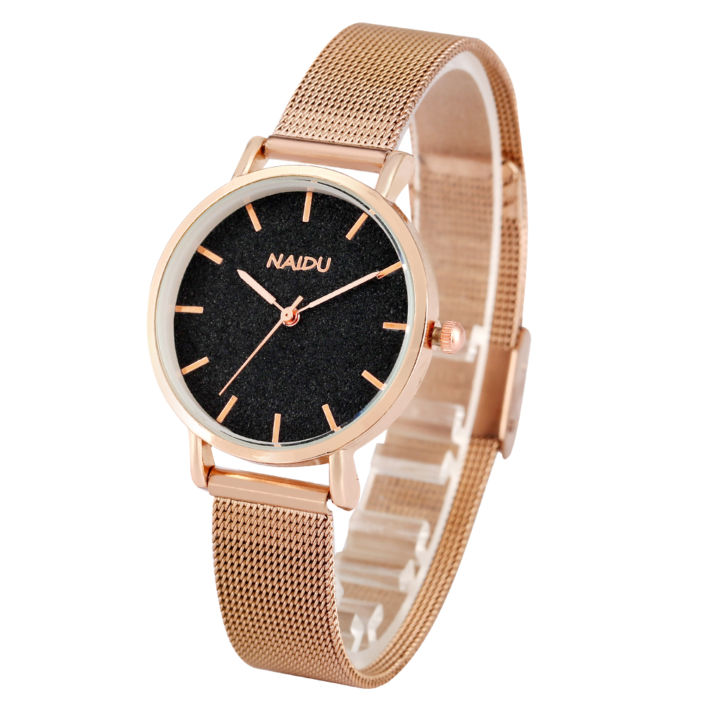 Top Style Fashion Women Quartz Watches Siainless Steel Mesh Leather Strap Famale Watch Casual Clock Ladies Wristwatch Reloj