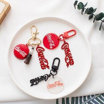 Llaveros de Cola roja de juego serie Nuka llavero de coche personalizado tapa de botella llavero para mujeres y hombres regalo único del Día de San Valentín