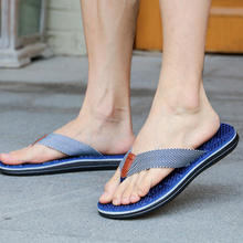 Hot Men Flip Flops Massage Slippers Sandals Textile Strap Anti-slip Shoes for Summer Beach BVN66