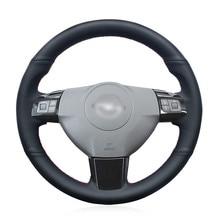 Black Genuine Leather Car Steering Wheel Cover for Opel Astra (H) 2004-2009 Zaflra (B) 2005-2014 Signum 2005-2009 Vectra (C) seintex 281 для opel astra h 2004 2009