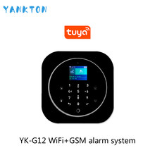 Tuya 433MHz GSM WiFi Wireless Home Security&Burglar Alarm System With PIR Motion Sensor/Door Sensor/Siren Alarm Set(China)