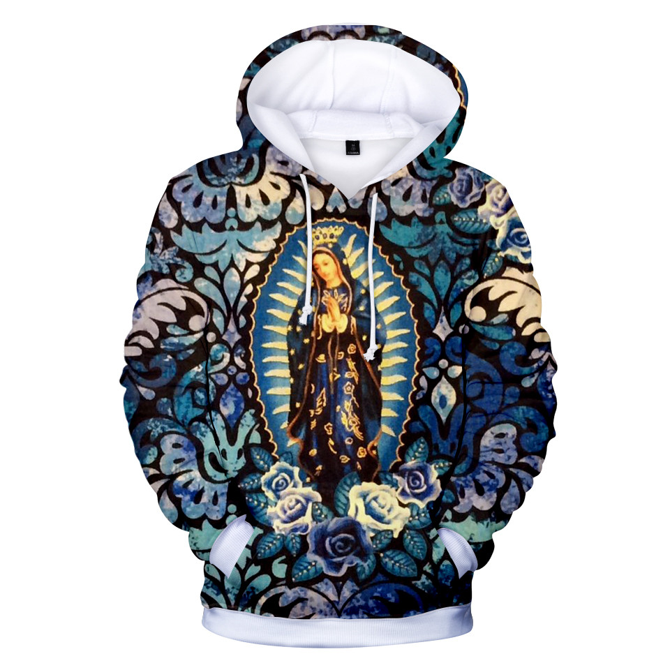 Our Lady Of Guadalupe Virgin Mary Mexico Mexican 3d Hoodies New Harajuku Hoodie Pullover Sweatshirt Streetwear Jacket Clothes