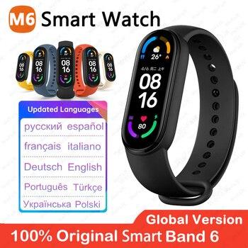 2021 Global Version M6 Band Smart Watch Men Women Smartwatch Fitness Sport Bracelet For Apple Huawei Xiaomi Mi Smartband Watches 1