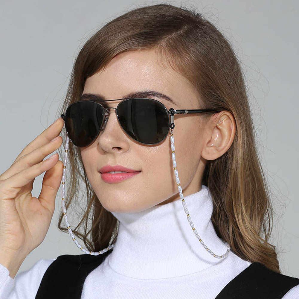 Jednolity kolor zroszony okulary łańcuch na szyję smycze moda okulary okulary do czytania okulary do czytania szyi pasek łańcuszkowy akcesoria do okularów