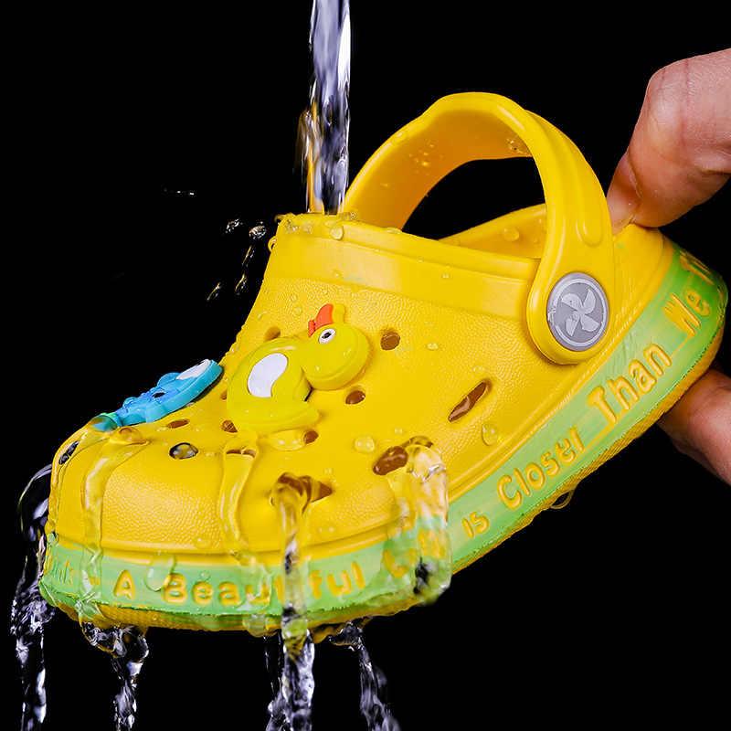 Sevimli bebek ayakkabıları karikatür hayvan dekorasyon günlük aşınma sandalet 2020 yaz nefes rahat güvenlik çocuk terlik