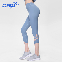 Women High Waist Yoga Pants Leggings hollow-carved design running Spor