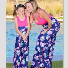 Summer Style Mother Daughter Dresses Family Look Mommy and M