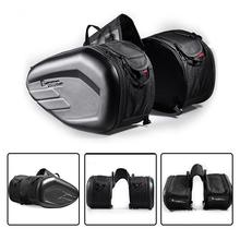 цена на 2PCS Motorcycle Side Bag Saddle Bag Locomotive Bag Side Bag Bilateral Helmet Bag Multi-Function alforjas para moto