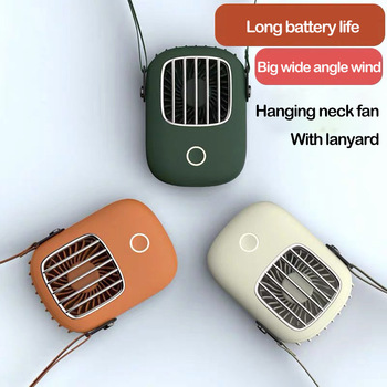 Portable Lazy Hanging Neck Fan USB Charging Mini Pocket Air Cooler Desktop Small Fan Outdoor Travel Sports Cooling Neckband Fan lazy sports hanging neck fan air cooler fan outdoor convenient usb charging creative student mini electric air cooling fan