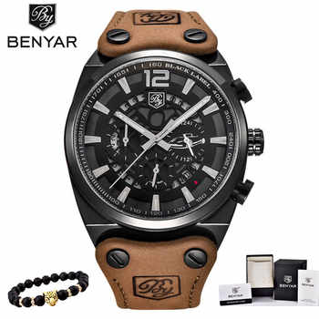 BENYAR Mens Watches Military Army Chronograph Watch Brand Luxury Sports Casual Waterproof Male Watch Quartz Man Wristwatch XFCS - DISCOUNT ITEM  57 OFF Watches