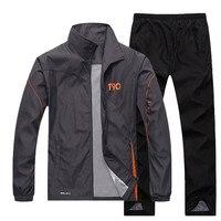 JEASS Men Sports Suits Men's Tracksuit Running Suits with Zipper Pockets Plus Size Men Sport Suit Mens Jogging Tracksuit Sets