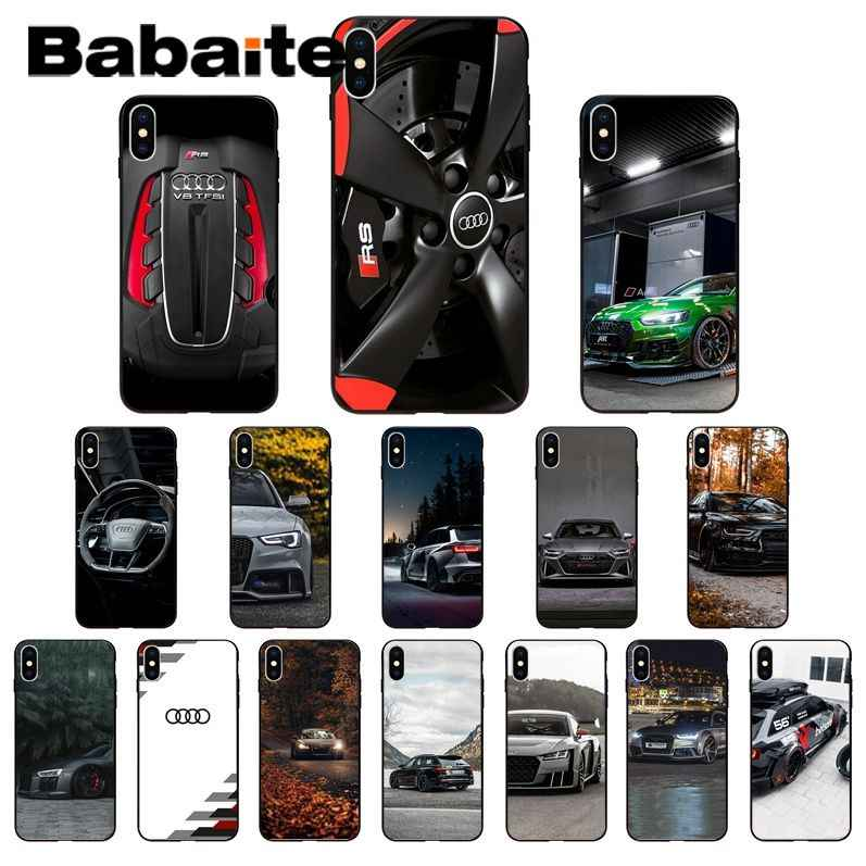 Babaite Audi RS Xe Thể Thao Mềm TPU Dẻo Silicone Ốp Lưng Điện Thoại Cho Iphone 11 Pro XS Max 8 7 6 6S Plus X 5 5S SE XR Case