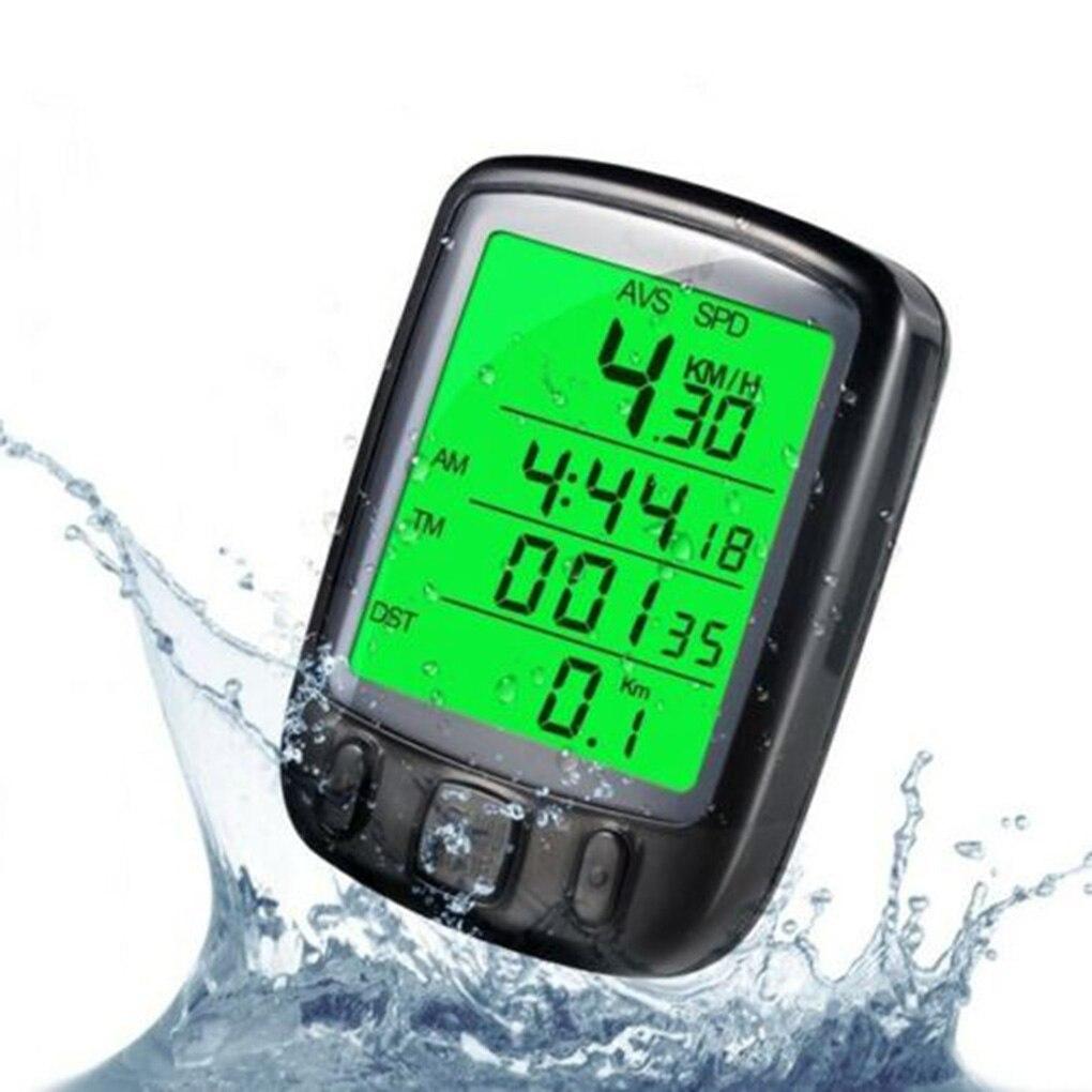 Bike Accessories LCD Digital Cycling Speedometer Computer Bicycle Backlight Screen Display Odometer Waterproof