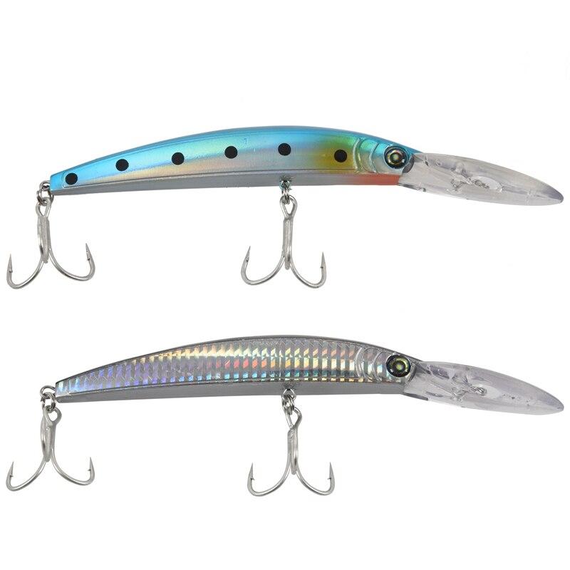 Spor ve Eğlence'ten Balıkçılık Yemleri'de 2 adet en kaliteli PROBEROS tarzı balıkçılık Lures balıkçılık yem 17.78 cm/27.31G balıkçılık 2 kanca  renk ile renk H title=