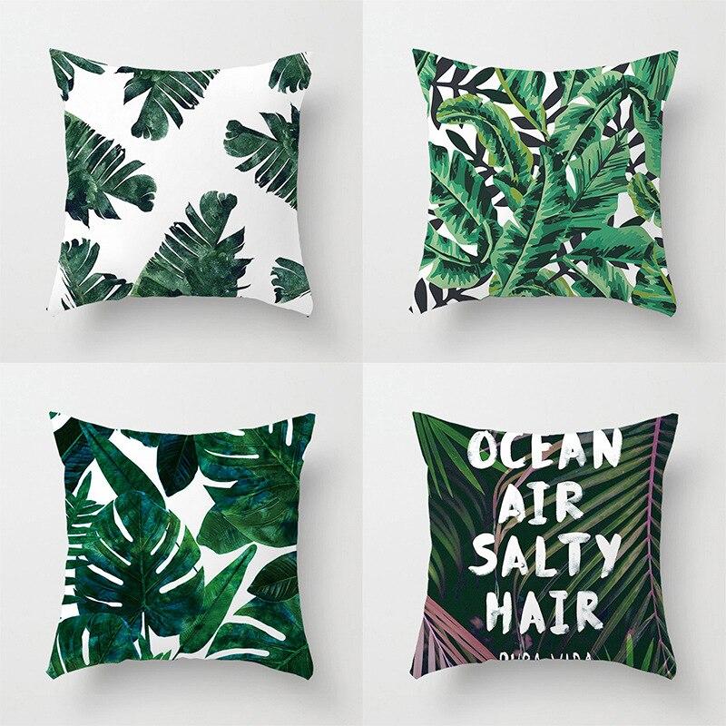 Explosion Pillow Baby Suede Green Plant Hug Pillowcase Sofa Cushion  Print