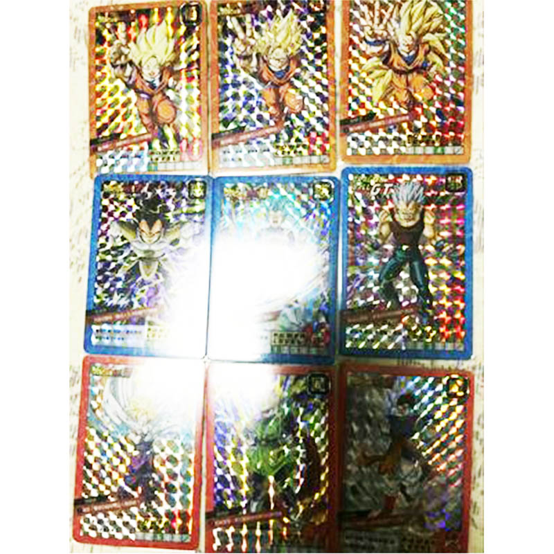 Dragon Ball 37pcs Super Ultra Instinct Goku Jiren Action Toy Figures Commemorative Edition Game Flash Card Collection Cards