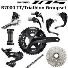 SHIMANO 105 R7000 TT/Triathlon Groupset  R7000 Derailleurs BSR1 Shift Lever TT79 Brake Levers ROAD 53 39T 52 36T 28T 30T 32T