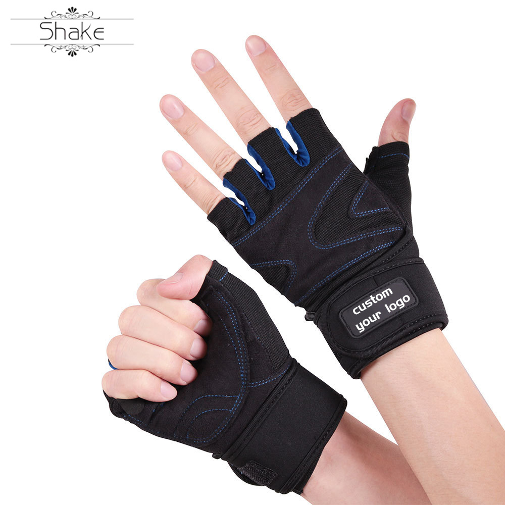 HEHE Custom Exercise Gym Gloves Anti-slip Breathable Sport Weightlifting Boxing Fitness Gym Gloves Protective Wrist