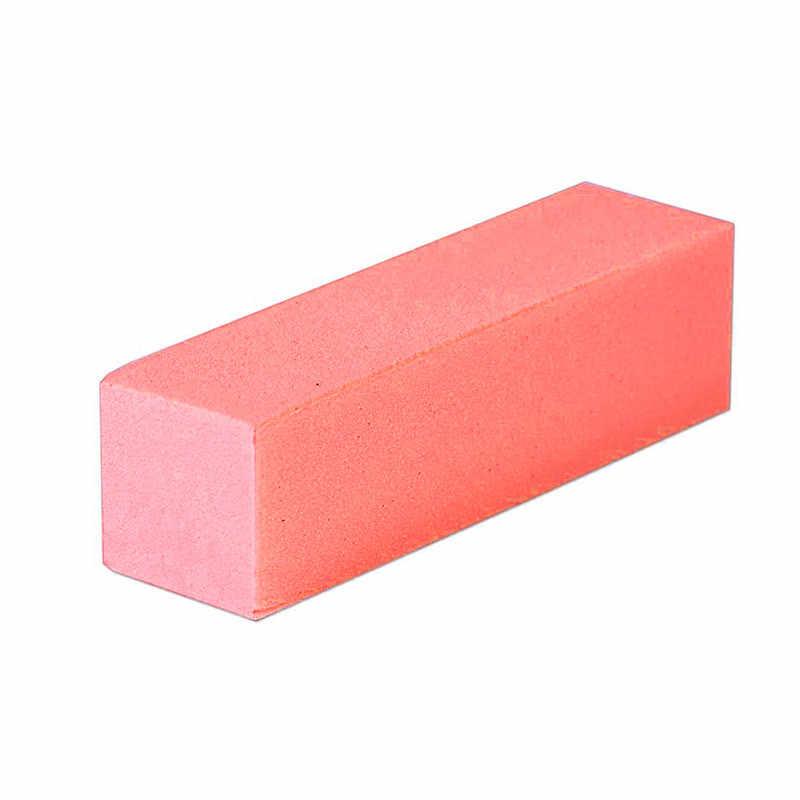 7 ألوان 1 قطعة شكل الوردي مسمار المخازن المؤقتة ملف الأظافر هلام ملف الأظافر الأبيض عازلة كتلة البولندية مانيكير باديكير الرملي مسمار أداة فنية