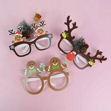 Photo-Prop Elk-Glasses Xmas-Decoration 9pcs No Snowman Navidad Tree Kerst Noel Santa-Claus