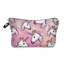 Women Cosmetic Bag 3D Printing Unicorn Small Makeup Bag For Travelling Storage Necessaries deanfun cosmetic bags 3d printing pug animal women makeup organizer necessaries for travelling dropshipping 50132