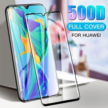 Перейти на Алиэкспресс и купить Изогнутое защитное стекло 500D, закаленное стекло для Huawei P20 Lite P30 Pro, Защитное стекло для экрана Huawei Nova 5 6 SE 7 Pro, пленка для экрана с защитой от во...
