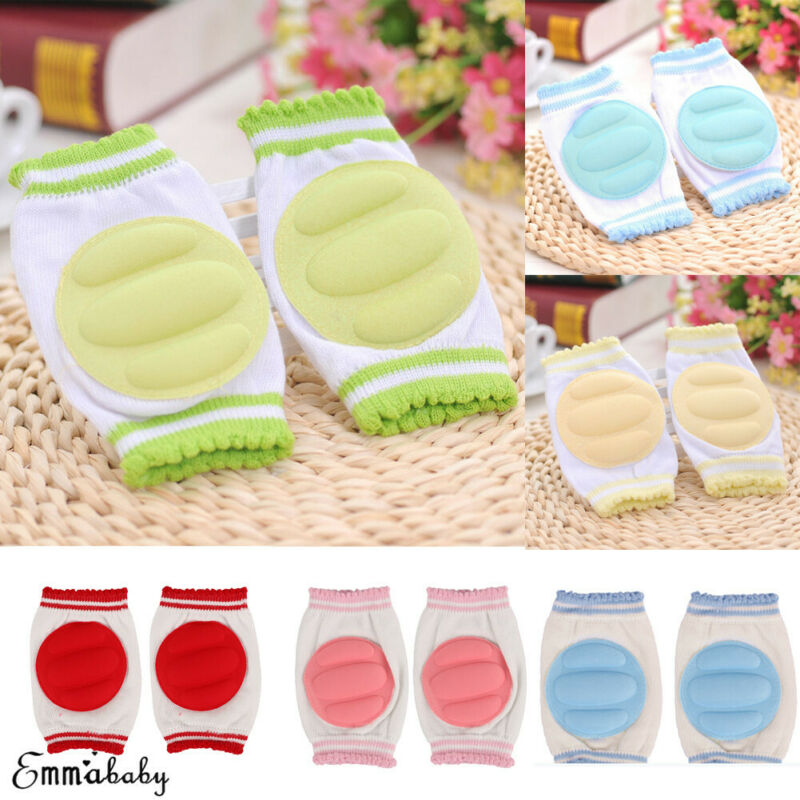 Fashion Baby Crawling Knee Pads Safety Anti-slip Walking Leg Elbow Protector Summer Children Protections Safety 0-24 Months