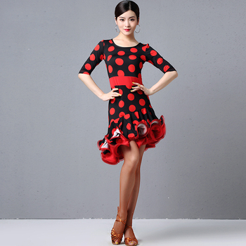 2020 Female Latin Dance Dress Professional Ballroom Dance Competition Dress Women Rumba Tango Samba Salsa Practice Clothing