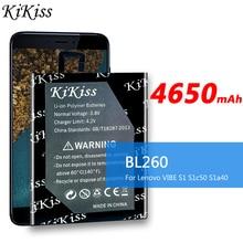 4650mAh BL260 BL 260 BL-260 для Lenovo Vibe S1 Lite S1La40 S1c50 S1a40 s1 a40 мобильный телефон Литий-полимерный аккумулятор