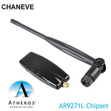 Беспроводной USB Wi-Fi адаптер 150 Мбит/с, чипсет Atheros AR9271, сетевая карта 802.11n с антенной 5 дБ для Windows/8/10/Kali Linux