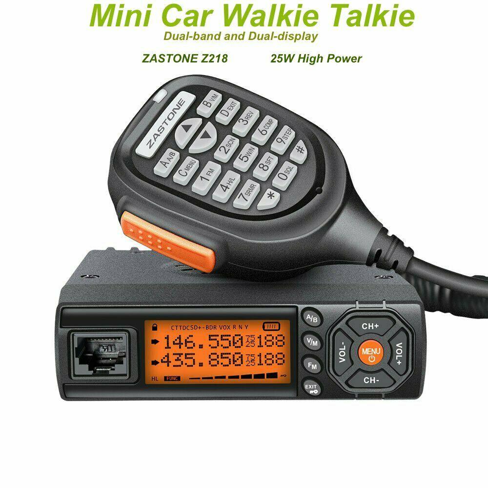 Zastone Z218 Mini Car Mobile Radio 25W Dual Band Transceiver 10KM Walkie Talkie|Walkie Talkie|   - AliExpress
