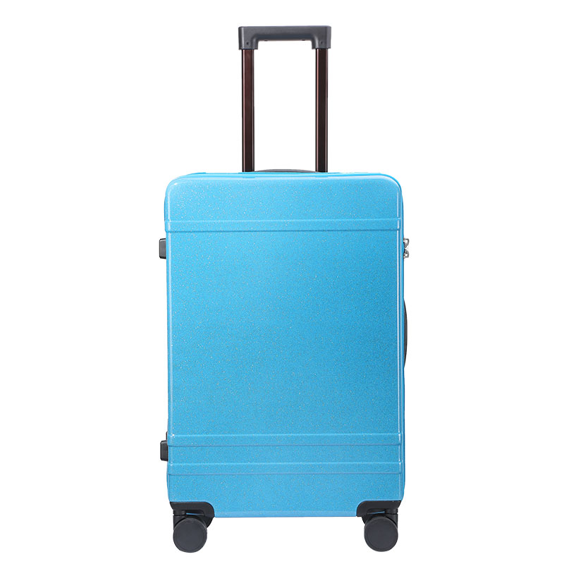 Male and Female Lightweight ABS Zipper Portable Consignment Suitcase Trolley Case Lock 4 Wheels Color : Blue, Size : 24 inches CLOUD Luggage Sets Travel Suitcase