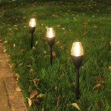 цена на LED Solar Lawn Lamp Outdoor Street Garden Path Landscape Bollard Light Stick Automatically RechargingFence Landscape