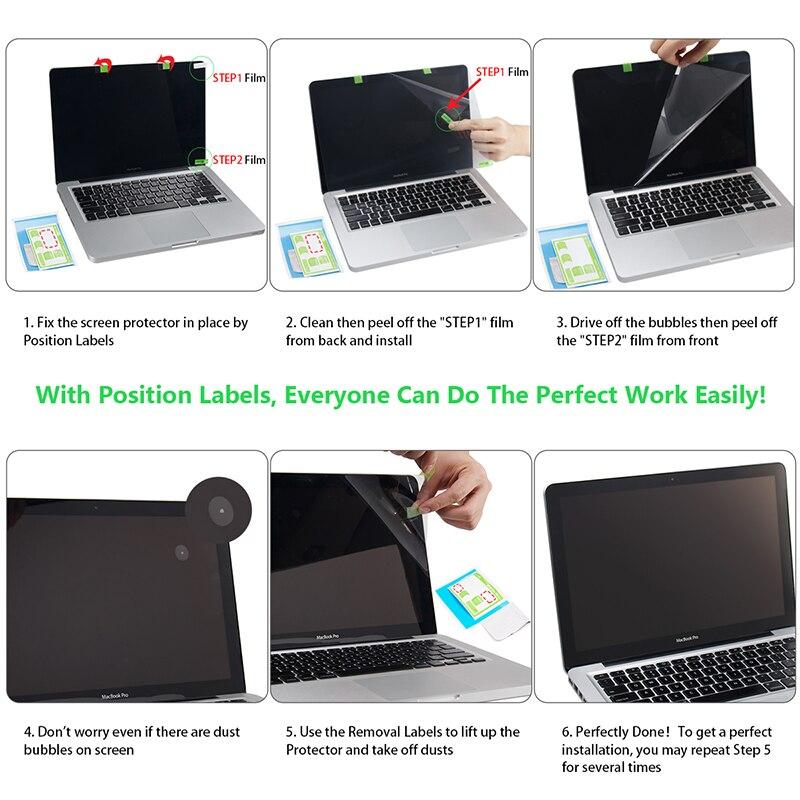 Protetor de tela para macbook pro 15 polegada 2019 modelo a1707/a1990, filme hd com revestimento hidrofóbico proteger macbook pro15 pele-5