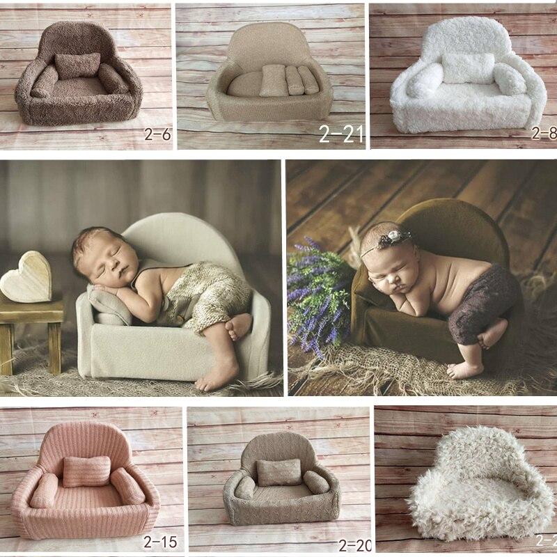 Flokati newborn fotografia adereços mini posando sofá para estúdio de fotografia do bebê acessórios do bebê foto adereços macio posando feijão