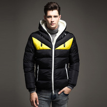 Mens Hat Cotton Clothes Body-building Large Size Down Suit Parkas