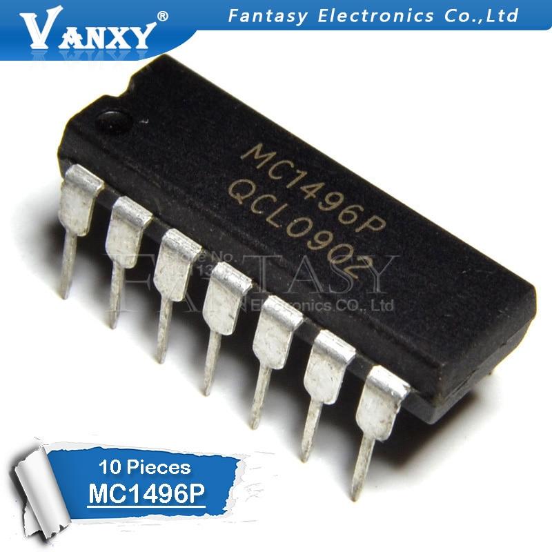 10pcs MC1496P DIP-14 MC1496 DIP14 MC1496BP DIP-14 1496P