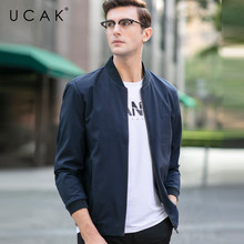 UCAK Brand Free Shipping Solid Jackets Men 2020 Spring Autumn Nee Arrival Jacket Coats Fashion Casual Chaquetas Hombre U8046