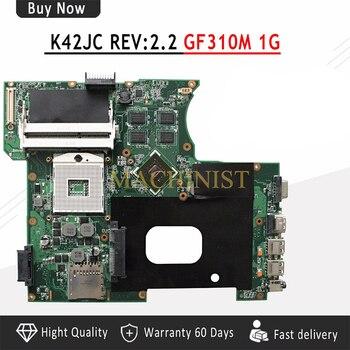 La placa base 100% está probada. Placa base para ASUS K42JC REV 2,2 HM55 DDR3 1GB notebook y fuente de alimentación K42JC placa pequeña