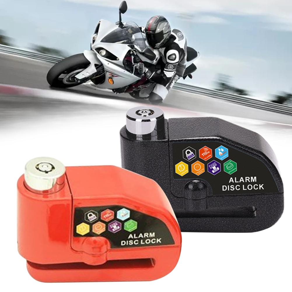 Motorcycle Electric Car Anti-Theft Safety Alarm Lock IP65 Waterproof 110 Decibel Alarm Rope Cloth Bag Bicycle Bike Wheel 110DB D