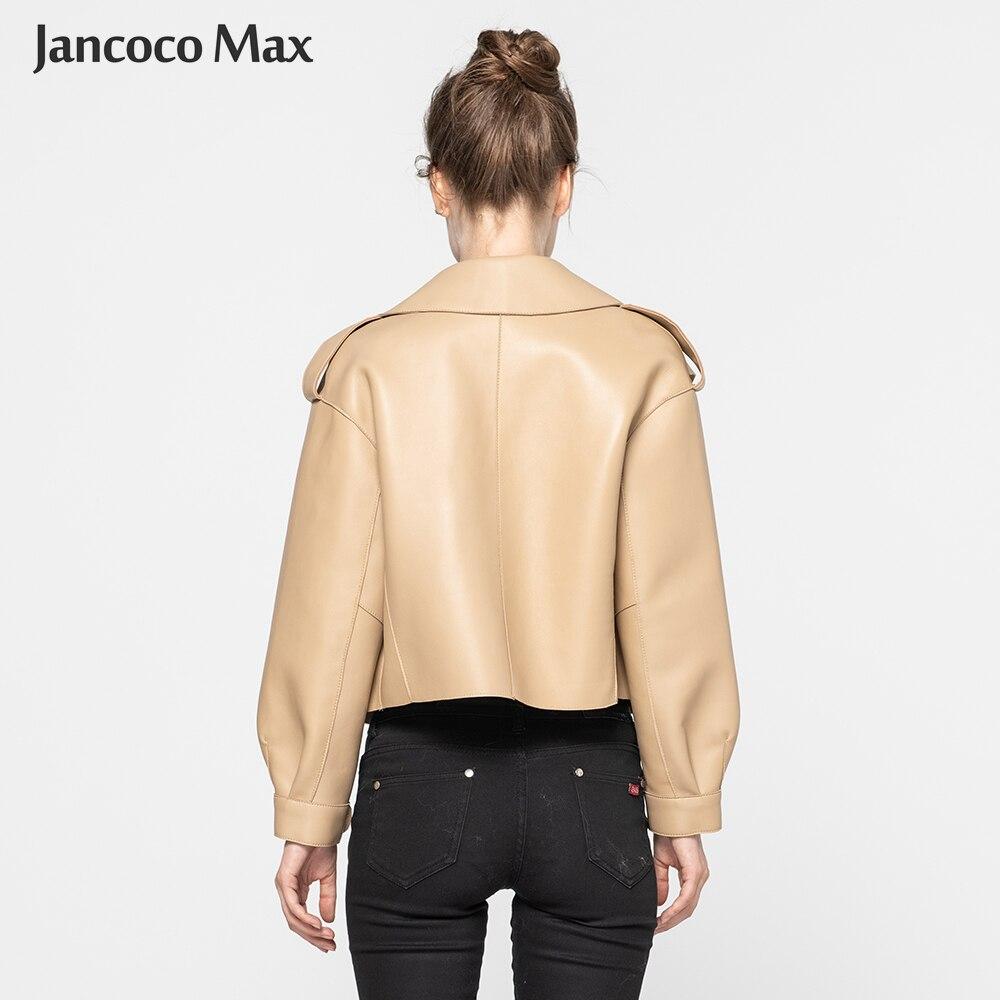 Image 2 - Women's Real Sheepskin Leather Jackets Top Quality Genuine Leather Coat Fashion Jackets Lady New Arrival S7547-in Leather Jackets from Women's Clothing