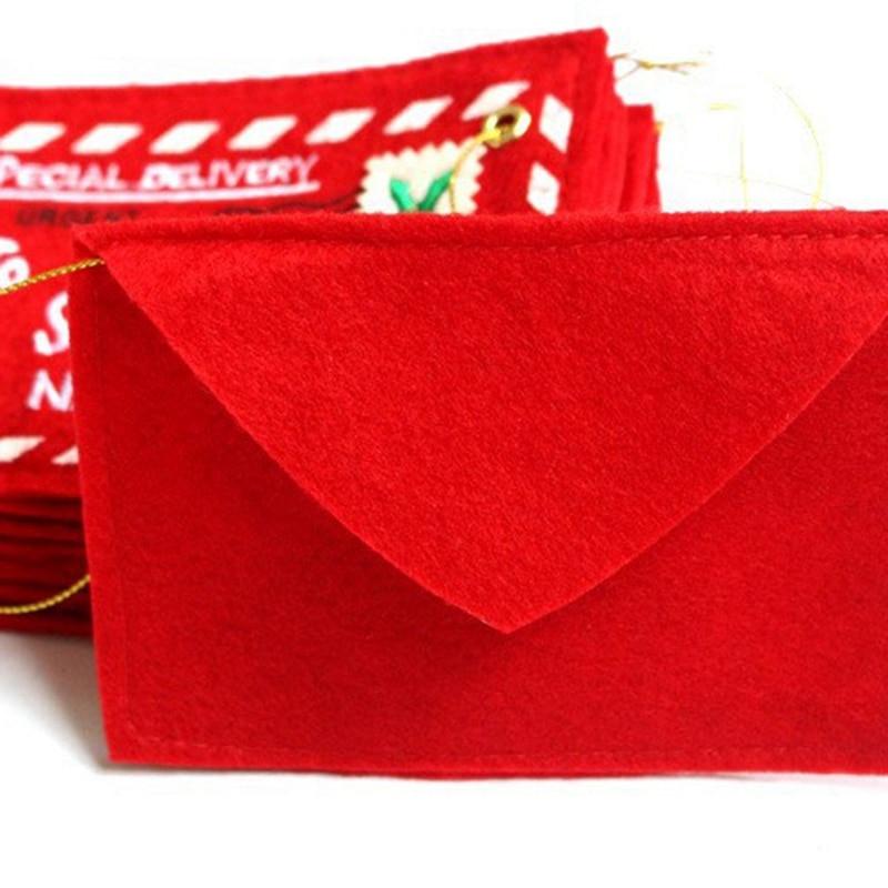 22 штуки рождественских конвертов, открыток для Санта-Клауса, конфет, Подарочный мешок для денег, Подарочный держатель, украшение на елку