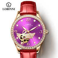 Nuevo reloj suizo para mujer, marca de lujo, relojes para mujer, reloj impermeable de zafiro, movimiento mecánico automático japonés