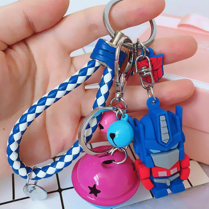 Fashion Transformation Robot Keychain High Quality PU Keyring For Men Women Jewelry Gift Pendant EH111