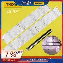 "Tkdmr 98 Cm Led Backlight Lamp Strip 9 Leds Voor Lg 47 ""Tv Innotek Drt 3.0 47"" 47LB6300 47GB6500 47LB652V 6916L 1948A 1949A LC47"