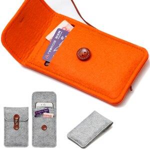Image 5 - Lã feitas à mão Sentiu Carteira Chiqueiro Para o iphone 8 Plus 5.5 polegada case Para iPhone 6S 7 8 4.7 polegada sacos de sacos de telefone celular Tampa Da caixa clara